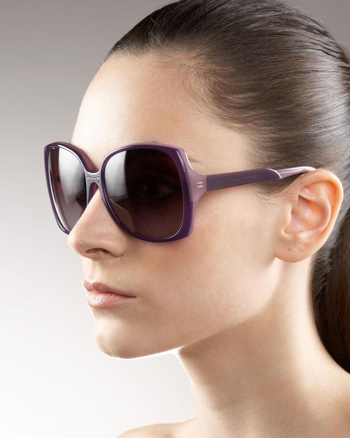 Stella McCartney Plastic Square Sunglasses