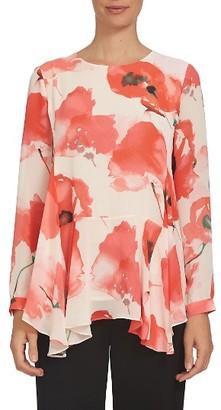 Women's Cece Handkerchief Hem Floral Print Blouse $99 thestylecure.com
