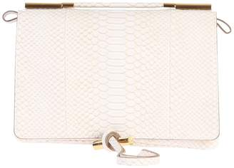 Stella McCartney White Snakeskin Print Cross Body Bag