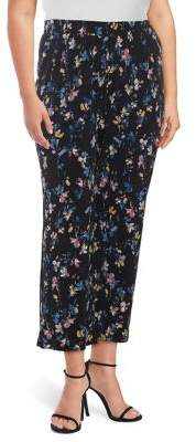 Context Plus Pull-On Floral Pants