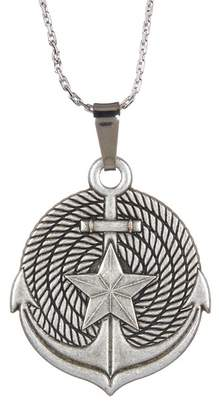 Alex and Ani Silver Anchor II Engraved Necklace