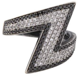 As 29 AS29 18K Diamond Arrow Pinky Ring