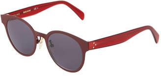 Celine Round Metal\/Acetate Sunglasses