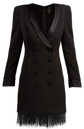 bef2d9cecf6 Dundas Tuxedo Double Breasted Crepe Mini Dress - Womens - Black