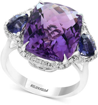 Effy Multi-Gemstone (9-9/10 ct. t.w.) & Diamond (1/5 ct. t.w.) Ring in 14k White Gold