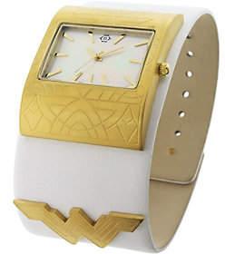 Nanette Lepore Nanette by Women's Wonder Woman White Leather Cuff Watch