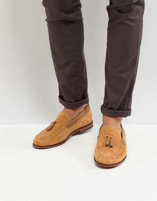 Ted Baker Dougge Suede Loafers In Stone