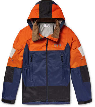 Junya Watanabe Colour-Block Nylon Hooded Jacket