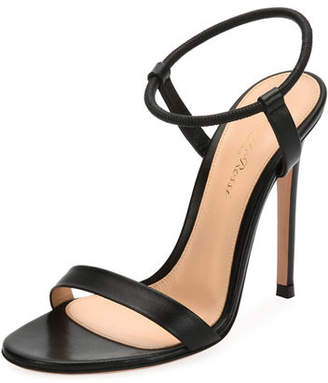 Gianvito Rossi Lamb Leather Ankle-Strap Sandal