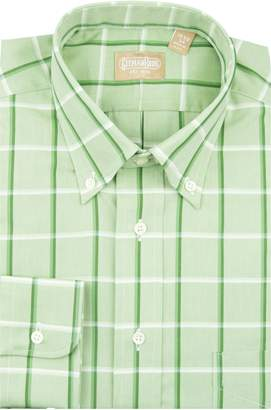 Gitman Tailored Fit Windowpane Dress Shirt