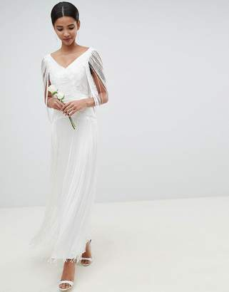 Asos Edition EDITION fringe maxi wedding dress