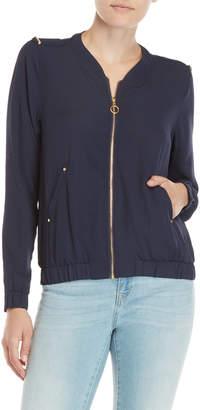 Harve Benard Navy Georgette Jacket