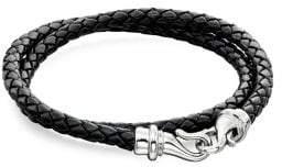 Fred Bennett Leather & Stainless Steel Bracelet