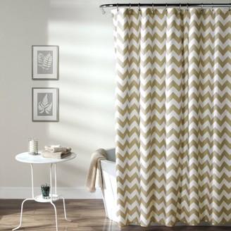Lush Decor Chevron Shower Curtain, Taupe