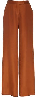 Marina Moscone Wool Blend Wide Leg Trousers