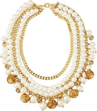 Fragments Multi-Row Simulated Pearl Statement Necklace $60 thestylecure.com