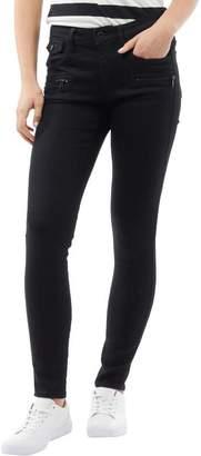G Star G-STAR Womens Davin Zip High Waist Super Skinny Jeans Rinsed