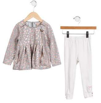 Juicy Couture Girls' Embellished Two Piece Set