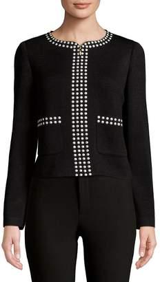 St. John Women's Studded Full Zip Jacket