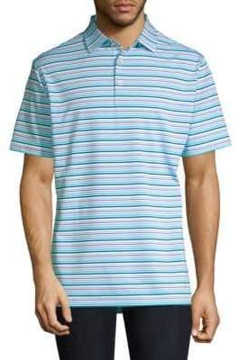 Peter Millar Morgan Striped Jersey Polo Shirt