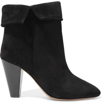 Isabel Marant Darilay Fold-over Suede Ankle Boots - Black