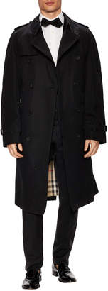 Burberry Men's Solid Belted Tall Trench Coat