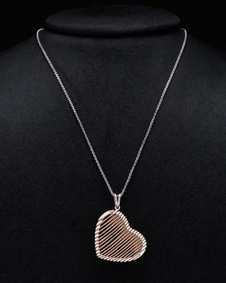 Italian Silver Heart Necklace