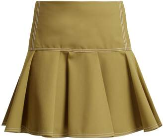 Chloé Mid-rise wool-blend skirt