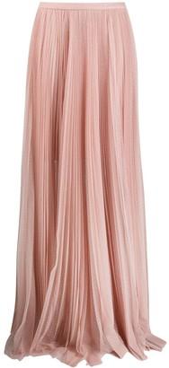 Maria Lucia Hohan sheer flared maxi skirt
