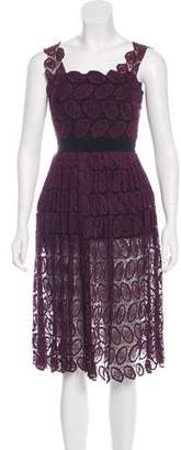 Robert Rodriguez Lace Midi Dress