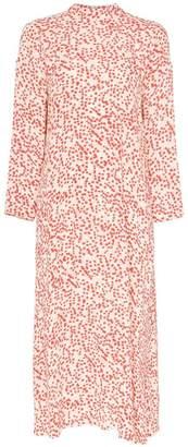 Ganni Goldstone floral print crepe dress