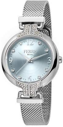 Ferré Milano Women's Crystal Accented Mesh Bracelet Watch, 32mm
