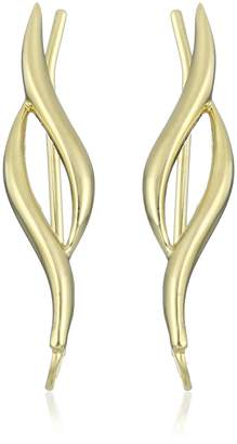 Michael Kors The Ear Pin Sterling Silver Classic Double Curves Polished Bright Earrings