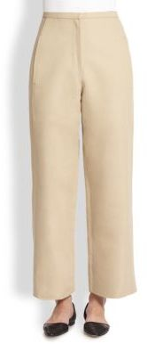 Christophe Lemaire Cotton/Linen Wide-Leg Pants