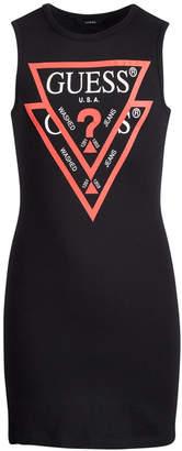 GUESS Big Girls Double Logo Graphic Cotton T-Shirt Dress