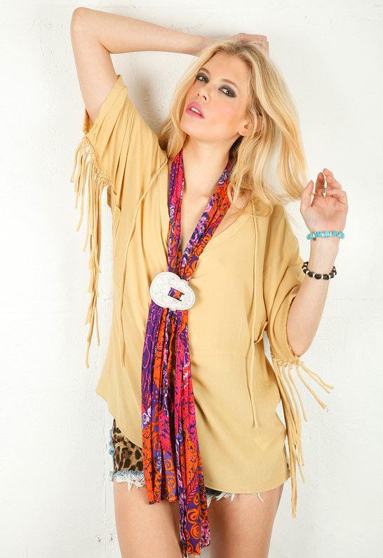 One Teaspoon Sirocco Scarf in Hot Pink -