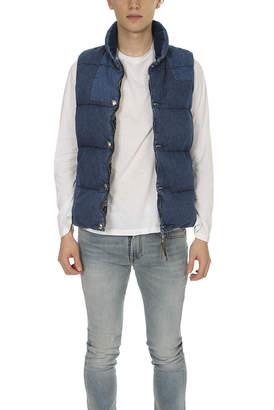 Remi Relief Denim Switching Down Vest