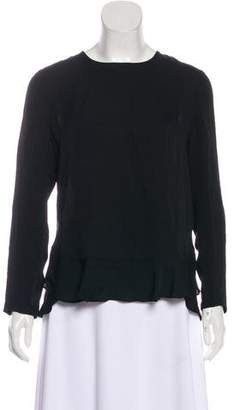Diane von Furstenberg Galia Silk Long Sleeve Top