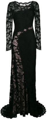 Olvi ́S lace-embroidered maxi dress