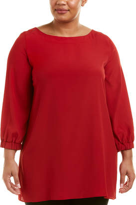 Marina Rinaldi Plus Silk-Blend Top