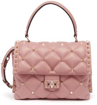 Valentino 'Candystud' quilted leather satchel bag