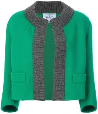 Prada knitted trim jacket