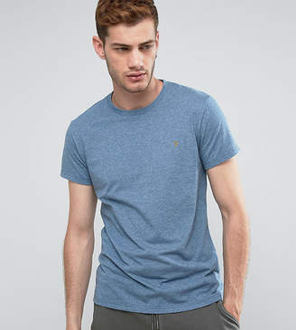Farah Gloor Marl Slim Fit T-Shirt In Blue