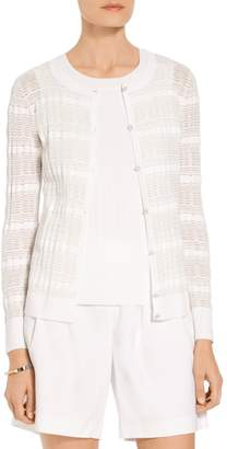 St. John Sheer Monica Knit Cardigan