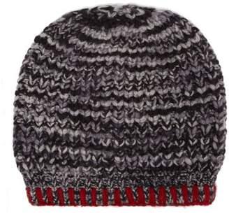The Elder Statesman Mushroom Cashmere Beanie Hat - Womens - Black Multi