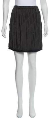 Lanvin Silk Mini Skirt Grey Silk Mini Skirt