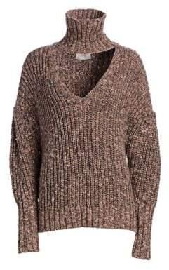 Cinq à Sept Adia Choker Chunky Knit Sweater