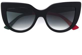 Gucci cat-eye tinted sunglasses