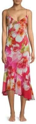 Josie Floral Silk Trumpet Dress