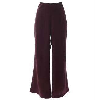 "Roses Are Red ""Stepping Songs"" Burgundy Silk Trousers"